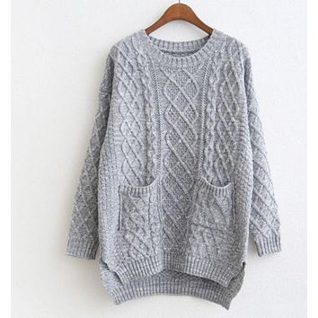 DCCKJ1A FASHION POCKET SWEATER