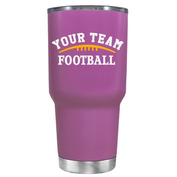 TREK Custom Football Team on Light Violet 30 oz Tumbler Cup