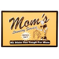 Mom's Laundry Service Metal Sign