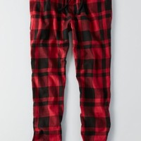 AEO Men's Flannel Sleep Jogger (Red)