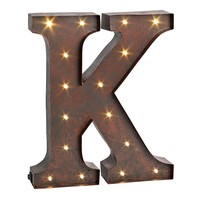 ''k'' LED Letter Wall Decor (Brown)