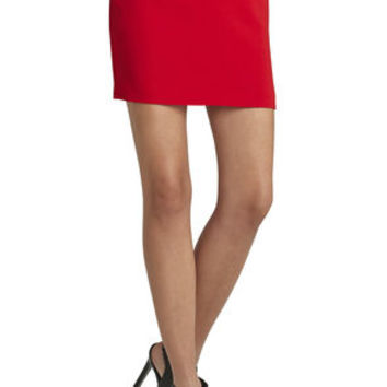 Zipper-Detailed Miniskirt in Orange - BCBGeneration