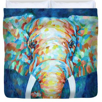 Colorful Elephant - Duvet Cover