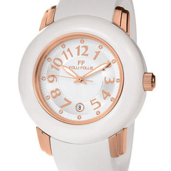 Folli Follie Ladies Urban Spin White and Rose Gold Watch