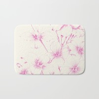 pink flowers Bath Mat by Sylvia Cook Photography
