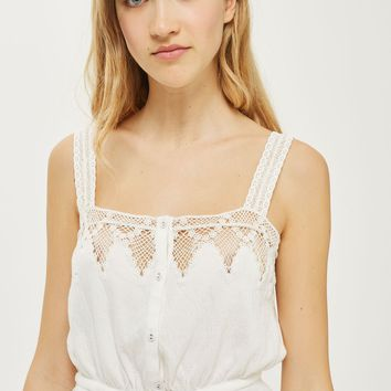 Trim Button Camisole Top | Topshop