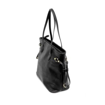 Black Tote with Drawstring Joy Susan