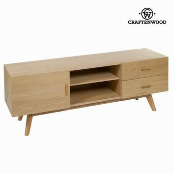 Oak tv table with 2 drawers - Modern Collection by Craften Wood