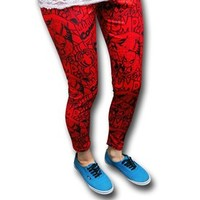 Spiderman All-Over Comic Print Women's Leggings