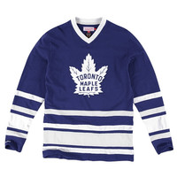 Toronto Maple Leafs Mitchell & Ness 1st Period Long Sleeve T-Shirt – Royal Blue