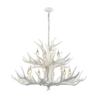 Big Sky 12 Light Chandelier White