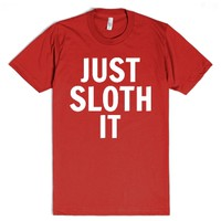 Just Sloth It-Unisex Red T-Shirt