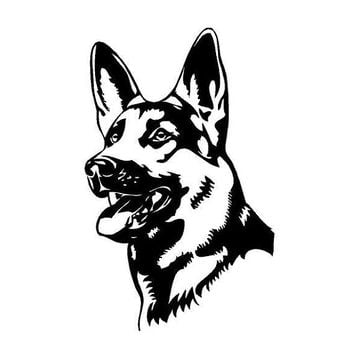 German Shepherd Dog Breed Vinyl Decal Custom Car Vehicle Decal Dog lovers german shepherd decal