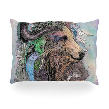"Mat Miller ""Forest Warden"" Bear Nature Oblong Pillow"