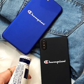Chrome heart couple phone7plus mobile phone shell, iphone8, simple men and women grinding hard shell