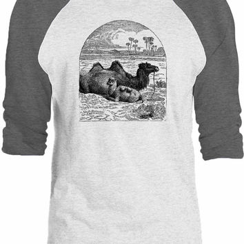 Big Texas Oasis Camels 3/4-Sleeve Raglan Baseball T-Shirt