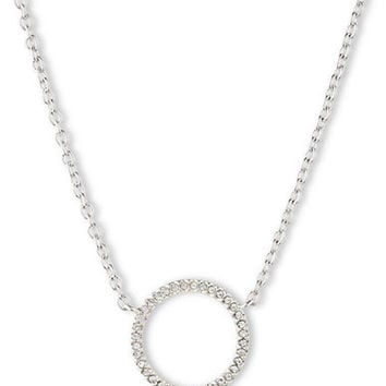 Judith Jack Sterling Silver and Crystal Circle Link Pendant Necklace