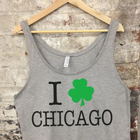 Chicago St. Patricks Day Boxy Tank Top | Chi Town St Patty's Day Top - 311