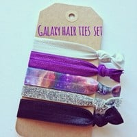 Galaxy Hair ties- set of 5