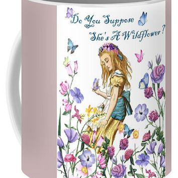 b326dd9e1 Alice In Wonderland Wildflower Art Print - Mug