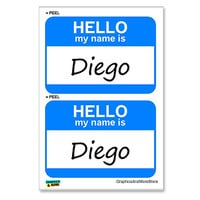 Diego Hello My Name Is - Sheet of 2 Stickers