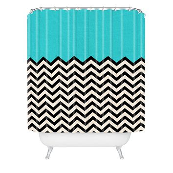 Bianca Green Follow The Sky Shower Curtain