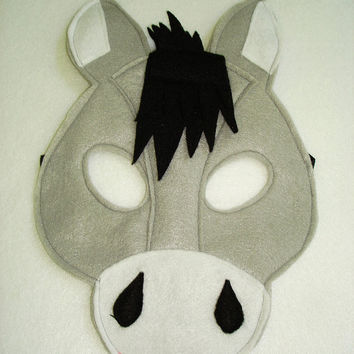 Children's DONKEY Farm Animal Felt Mask