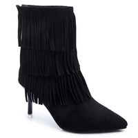 Tassels Boots With Stiletto Heel and Pointed Toe Design