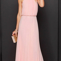 Collections - Pink Bohemian Style Flowing Maxi Dress