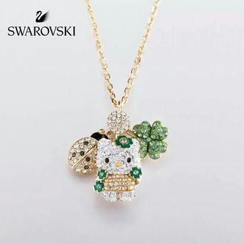 HCXX Swarovski HELLO KITTY Three kinds of matching pendant necklace