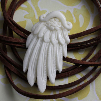 Feather Carved Bone