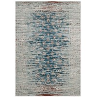 Hesper Distressed Contemporary Floral Lattice 8x10 Area Rug