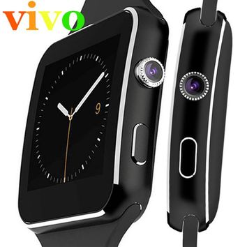 Vivo X6 Smart Watch 1.54 inch Support SIM Card/Facebook/Twitter Pedometer Touch Screen with Camera&Bluetooth Best one for Adult