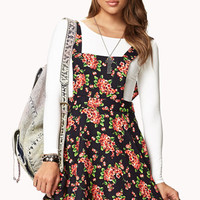 Sweet Floral Overall Dress