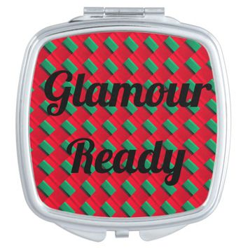 "'""Glamour Ready"" Compact Mirror"