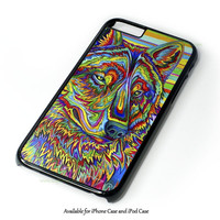 Psychedelic WolfiPhone 4 4S 5 5S 6 6 Plus Case and iPod Touch 4 5 Case