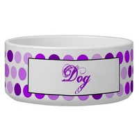 Lilac Dots Pattern Custom Dog Food Bowls