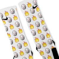 Baseball Emoji Custom Nike Elite Socks