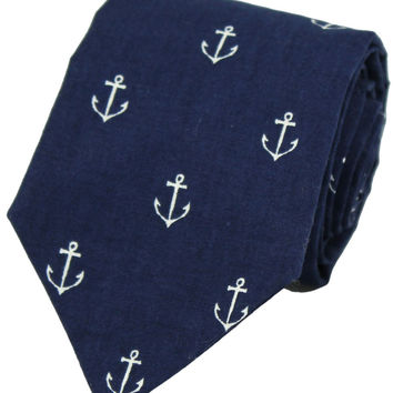 Can't Hold Me Down Tie in Navy by Just Madras