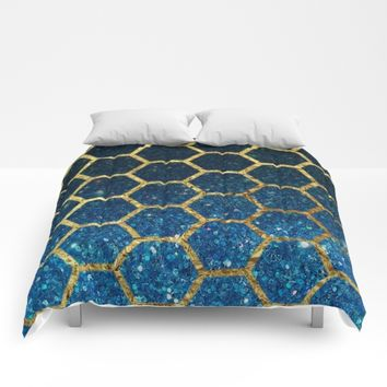 Glittery Hex Comforters by UMe Images