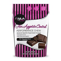 NLA for Her - Her Appetite Control Performance Chew - Advanced Appetite Suppressant Support - Supports Fat Loss & Promotes Normal Appetite - Rich Chocolate - 30 Soft Chews