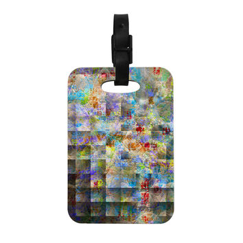 "Michael Sussna ""Yggdrasil"" Rainbow Abstract Decorative Luggage Tag"