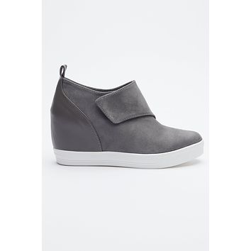 Vanessa Sneaker Wedges (Grey)