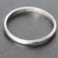 Argentium Sterling Silver Ring - Simple Band