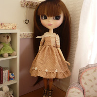 outfit  composed of dress and  hair tie  for pullip or blythe