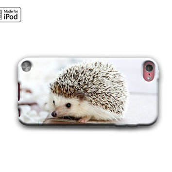 Hedgehog Baby Cute Spikey Furry Animals Fun Funny Silly Adorable Rubber Case for iPod Touch 6th Generation Gen or iPod Touch 5th Gen