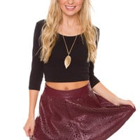 Revolutionary Skirt - Burgundy