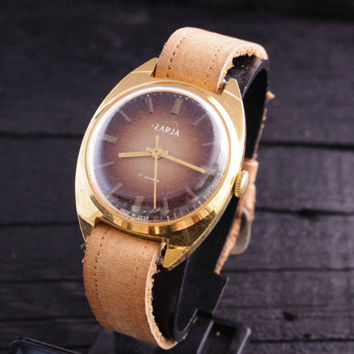 Vintage Zaria womens watch ladies watch gold plated russian watch ussr cccp soviet watch