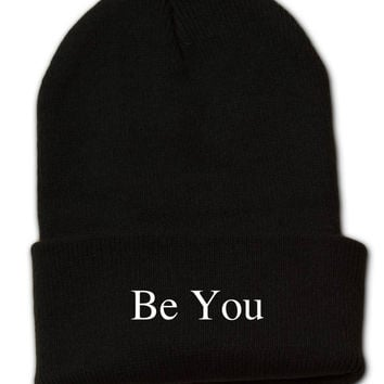 Tumblr Beanie heat pressed Be You in 3 different color