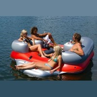 Sea-Doo 4 Person Inflatable Aqua Lounge with MP3 System